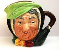 "Retired Royal Doulton Sairey Gamp Large Porcelain Toby Jug Mug EARLY ""A"" Series"