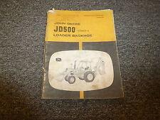 John Deere 500A Loader Backhoe Owner Operator Manual OMR41898