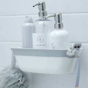 SlipX Solutions On the Dot Suction Shower Basket Caddy, Razor & Shampoo Holder