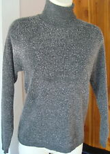 Jones New York Petite P/P Dark Gray Lambswool Acrylic LS Turtleneck Sweater