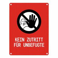 """Türe Halle Werkstatt /""""Zutritt nur für MItarbeiter/"""" Schild oder Klebeschild"""