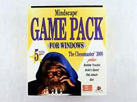 Vintage GAME PACK Chessmaster 3000 + Big Box PC Computer Game by Mindscape 3.5