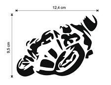 Motorrad  Biker Moped Superbike ca 12 x 9 cm Sport Sticker Auto Aufkleber weiß