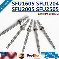 12pcs Ballscrew Sfu1204 Sfu1605 Sfu2005 Sfu2505 L250mm 2000mm End Machine W Nut