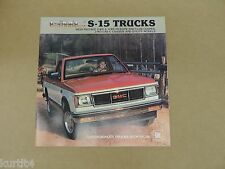 1983 GMC S-15 Pickup Gypsy Club Coupe Sierra sales brochure dealer catalog
