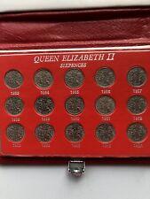 More details for 1953-1967 queen elizabeth 11 full set of sixpences