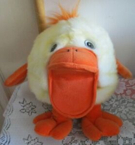 Large Yellow Quacking Duck Hand Puppet