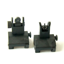 45 Degree Offset Front & Rear Backup Aluminum Sight Fit Picatinny Weaver Rail