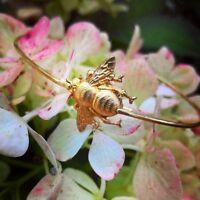 14k Gold Plated Bumblebee Bracelet in FREE Gift Bag/Box! Honey Bee Bangle UK NEW