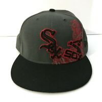 New Era 59Fifty Cap Fitted MLB Chicago White Sox Grey & Red Hat! Used! Size 8!