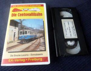 VHS EK Eisenbahn Die Centovallibahn Locarno-Domodossola 83 Brücken 31 Tunnels