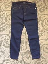 Forever21 Denim Jeans Tulip Hem Detail Ankle Length  Sz 12