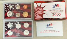 2005 US Mint Silver Proof Set 11 Coins, 7 Are 90% Silver. OGP, COA
