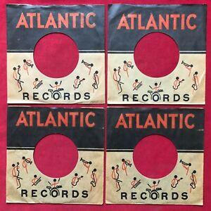 "ATLANTIC R&B 7"" 45 RPM RECORD COMPANY SLEEVES LOT 1950'S 1960'S VINYL SLEEVE EX"