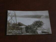 ORIGINAL REAL PHOTO POSTCARD - QUEBEC BRIDGE DISASTER, CANADA - BOAT, 1907.