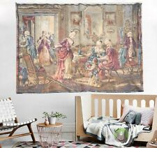 125- Vintage French Tapestry Home Decoration wall hanging Flroal tapestry 3x4