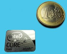 INTEL CORE 2 DUO  METALISSED CHROME EFFECT STICKER LOGO AUFKLEBER 21x16mm [692]