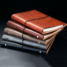 A5 PU Leather Cover Retro Vintage Journal Notebook Lined Paper Diary Planner