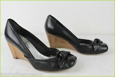 99a97b695d4c7 Court shoes SAN MARINA Wedge Heels Black Leather T 36 VERY GOOD CONDITION