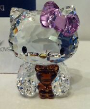 SWAROVSKI CRYSTAL HELLO KITTY WITH BEAR 1096879 MINT BOXED RETIRED