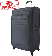 32 In Expandable Travel Luggage Rolling Suitcase Outdoor Vacation Tote Gray NEW
