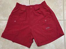 Aftco Men's Nylon Red Fishing Shorts size 28