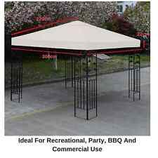 Replacement Sun Shade 3x3m Square 1 Tier Patio Gazebo Cover Camping Outdoor BBQ