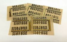 "3/8"" Self-Adhesive Gold Arabic Clock Numbers-NEW-Self stick, 10 SETS, USA made"
