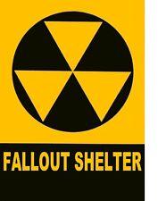 "TIN SIGN ""Fallout Shelter"" Art Deco  Garage Wall Decor"