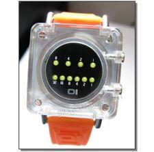 Gehirntrainer:OI The one binary 867-or Binäruhr LED-Uhr + Box IO: schwarz/orange