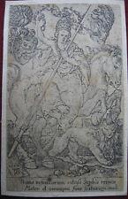 Kupferstich von H. Aldegrever: Laster Superbia Hochmut 1552/Engraving Vice Pride