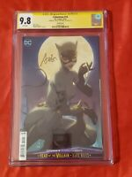 CATWOMAN #14 CGC 9.8 SS TRADE DRESS VARIANT SIGNED BY STANLEY ARTGERM LAU