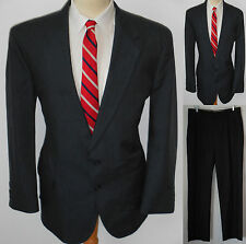 42L Mens 2pc MOD Stafford Blue Superb Lawyer Windowpane Plaid Business Suit