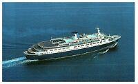Aerial View Sun Line Stella Solaris Cruise Ship Greece Postcard