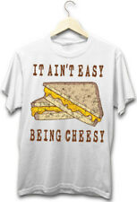 It Ain't Easy Being Cheesy Funny Grilled Cheese Foodie Hipster White T-Shirt