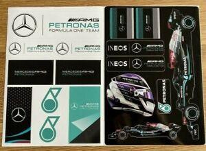 Mercedes F1 Petronas AMG Hamilton Formula 1 Motorsport A4 Sticker Sheet NEW 2021