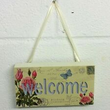 Shabby Chic Vintage Style - Light Up Wall Plaque Sign - WELCOME - BRAND NEW