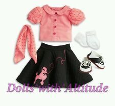 NEW AMERICAN GIRL DOLL MARYELLEN'S POODLE SKIRT SET OUTFIT