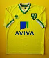 4.8/5 Norwich City jersey small 2011 2012 home shirt Errea soccer football ig93
