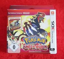 Pokemon Omega Rubin Limitierte Edition mit Steelbook, 3D Nintendo 3DS Spiel, Neu