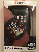 """Griffin LED Light Runner Arm Band Fits Smartphones up to 5.5"""" iPhone - Black NEW"""