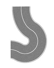 Noch 34204 scala N,STATALE CURVA universale,Grigio,2 pezzi # NUOVO in scatola