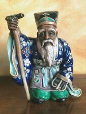 Très belle statuette de Jurojin en porcelaine de Kutani, Japon vers 1920.