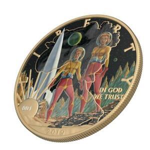 USA 2019 $1 American Eagle LIBERTY Sci-Fi - Landing 1oz Silver Coin