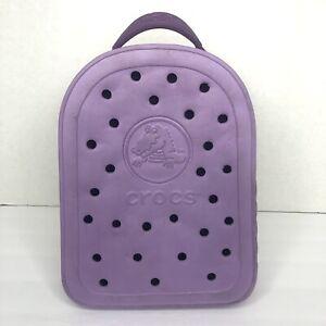 Crocs Backpack Light Purple White Zipper Kids Mini Book Bag Lavender Lilac