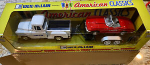 Weil-Mclain 1955 Chevy 5100 Stepside And 1967 Corvette With Trailer