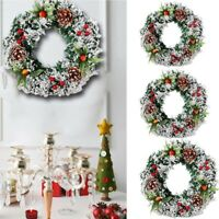 Wall Hanging Christmas Wreath For Xmas Party Door Home Garland Ornament Decor sm