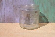 Vintage Burma Shave Ribbed Glass Jar, 1 lb.