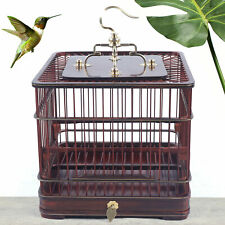 Exquisite Handmade Chinese Wood Bird Cage Retro Birdcage Slide Out Tray BirdHome