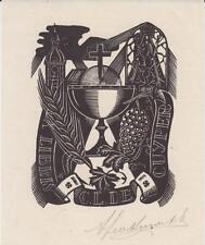 EX-LIBRIS C.L. DE CUYPER GRAVÉ PAR ANTOON HERCKENRATH (1907-1977) - BELGIQUE